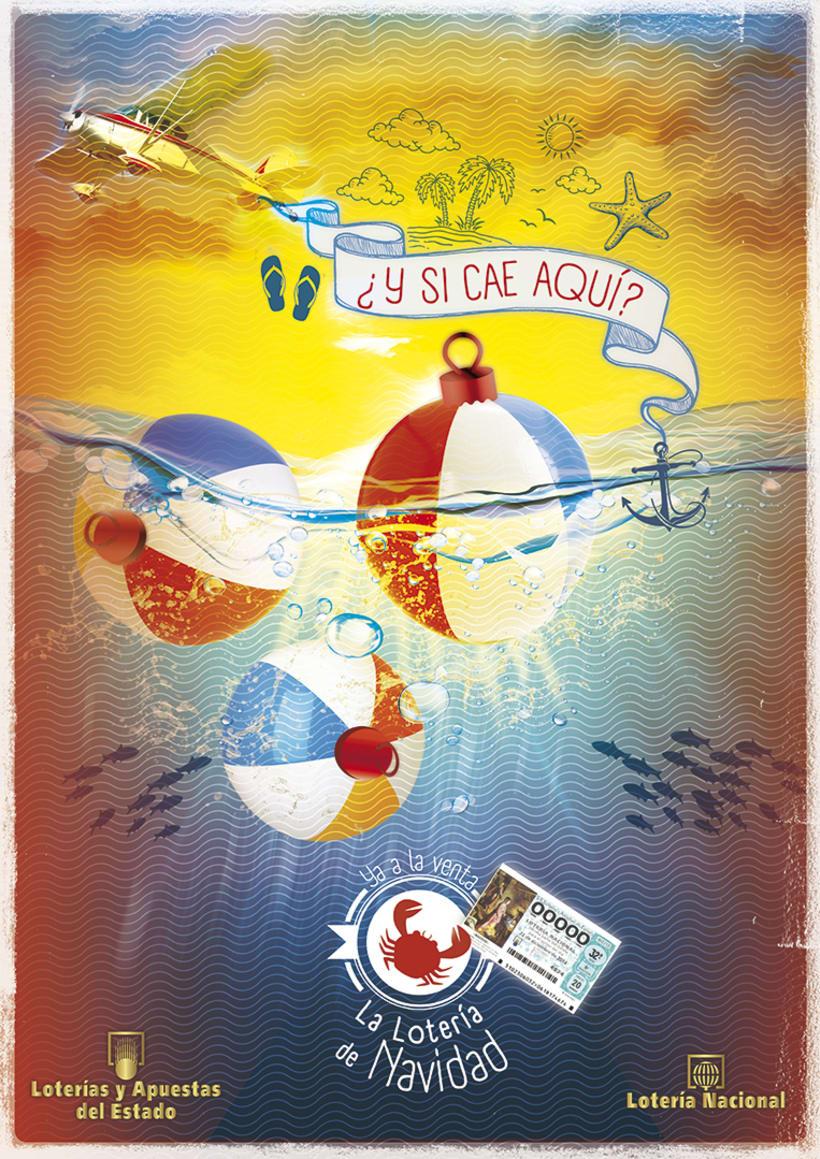Carteles Campaña Verano (Lotería Navidad 2014). 1