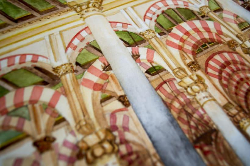 Acuarela: Mezquita de Córdoba 10