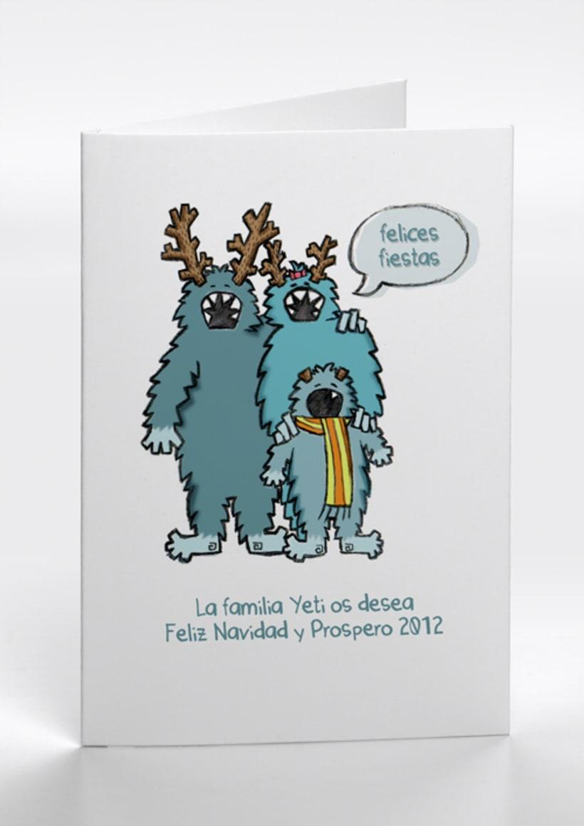 Navidad Mounstruosa 2012, tarjetas navideñas 2