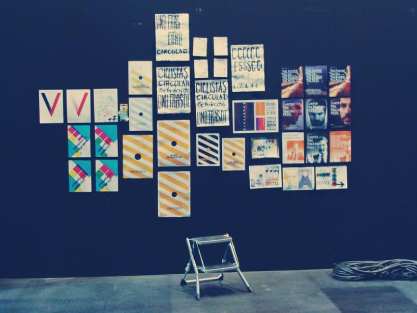 """Rediseño de cartel """"mirar y cruzar"""" para exposición de la DGT en Mulafest 2012. 3"""