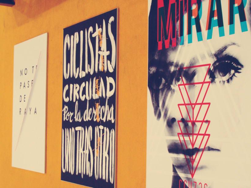 """Rediseño de cartel """"mirar y cruzar"""" para exposición de la DGT en Mulafest 2012. 2"""