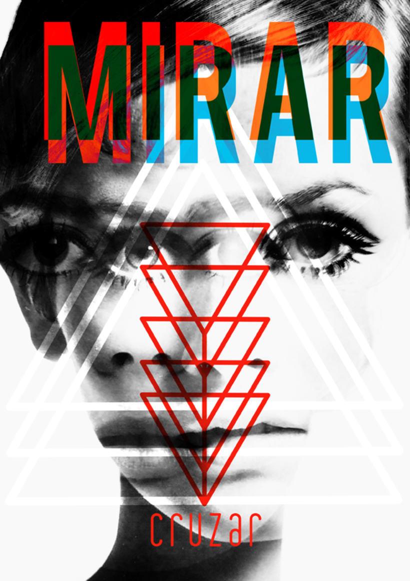 """Rediseño de cartel """"mirar y cruzar"""" para exposición de la DGT en Mulafest 2012. 0"""
