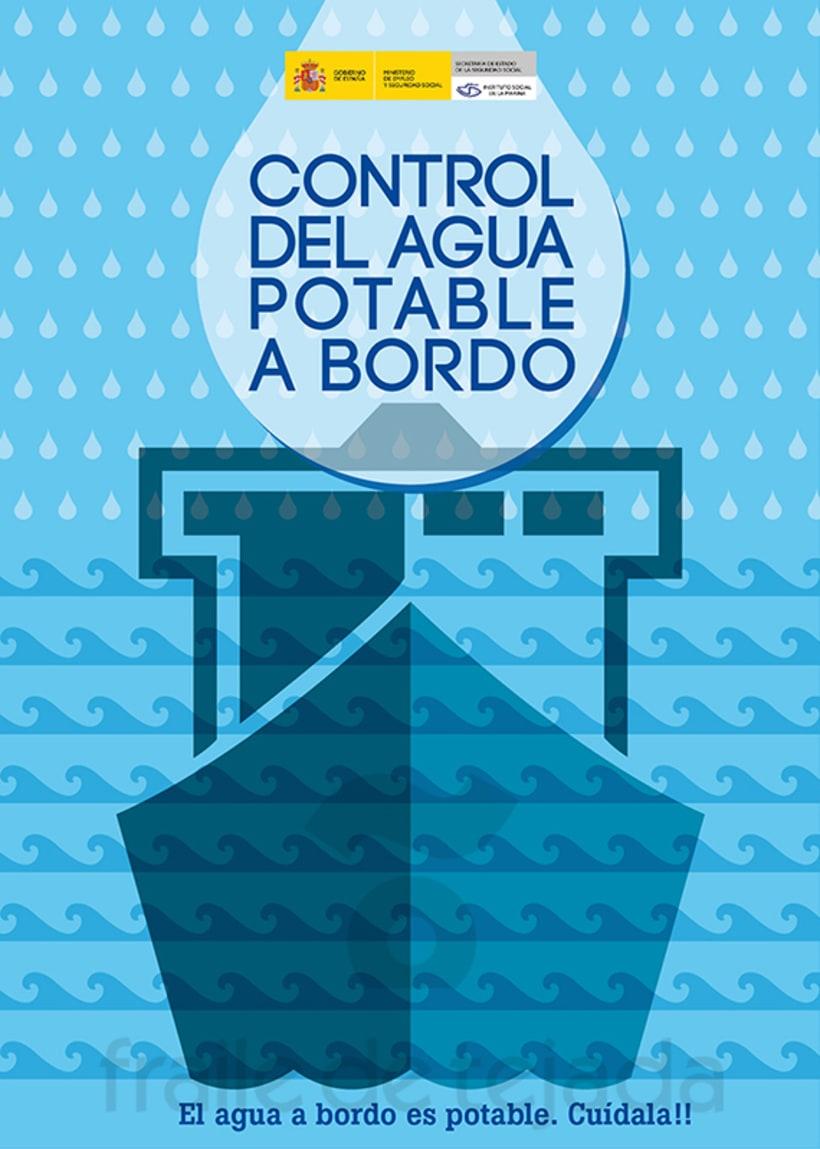 Control del agua potable a bordo > Campaña para el ISM 1