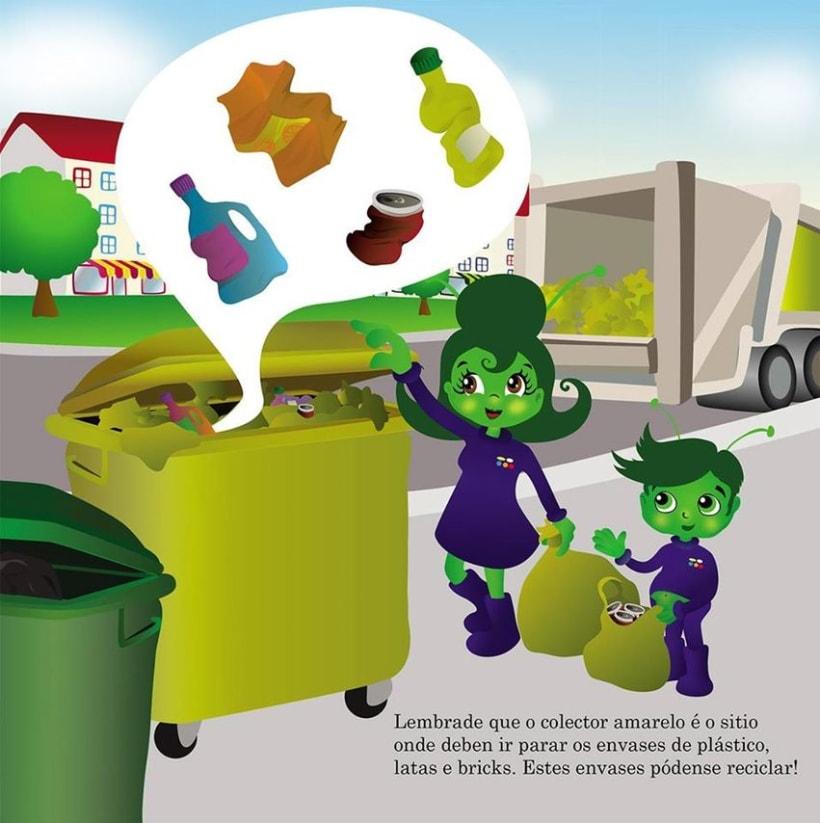 Ilustr. videocuento  concienciación medioambiental, I ciclo de primaria 0