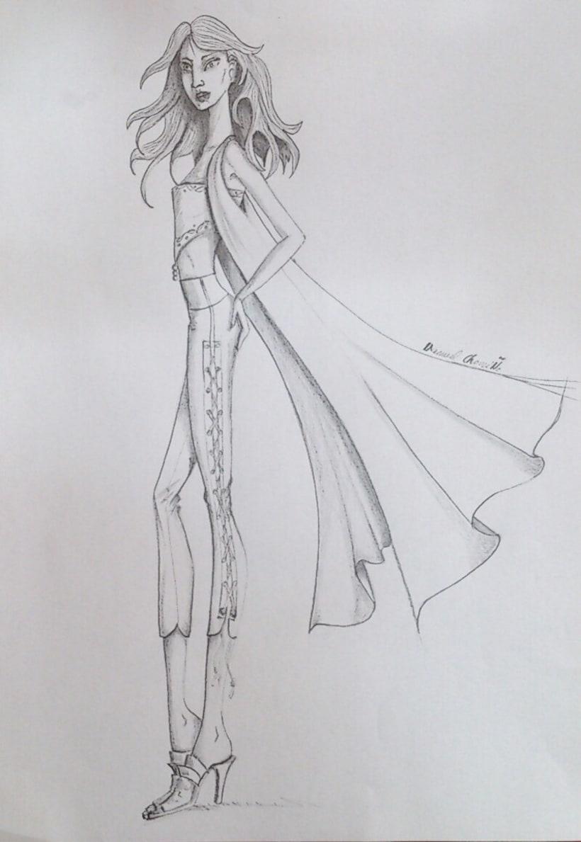 Diseños de moda a lápiz -1
