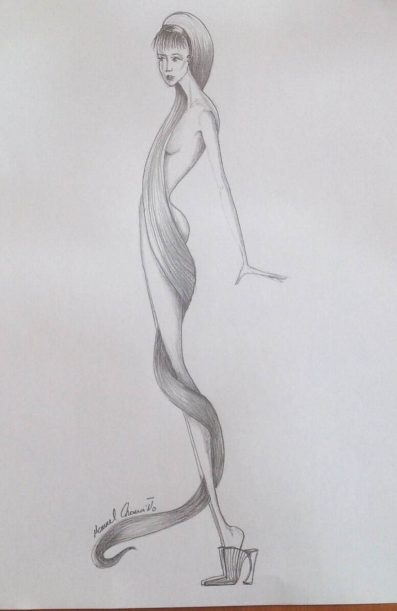 Diseños de moda a lápiz 0