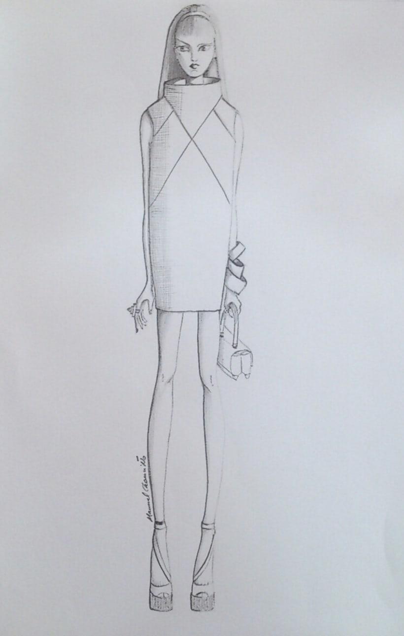 Diseños de moda a lápiz 1