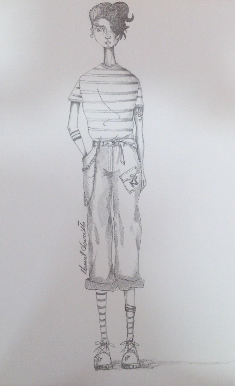 Diseños de moda a lápiz 3