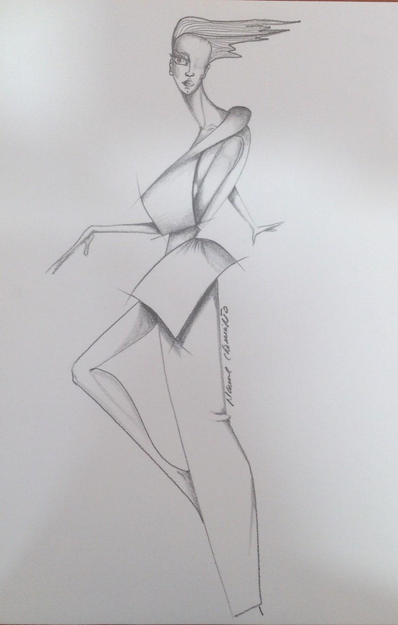 Diseños de moda a lápiz 4