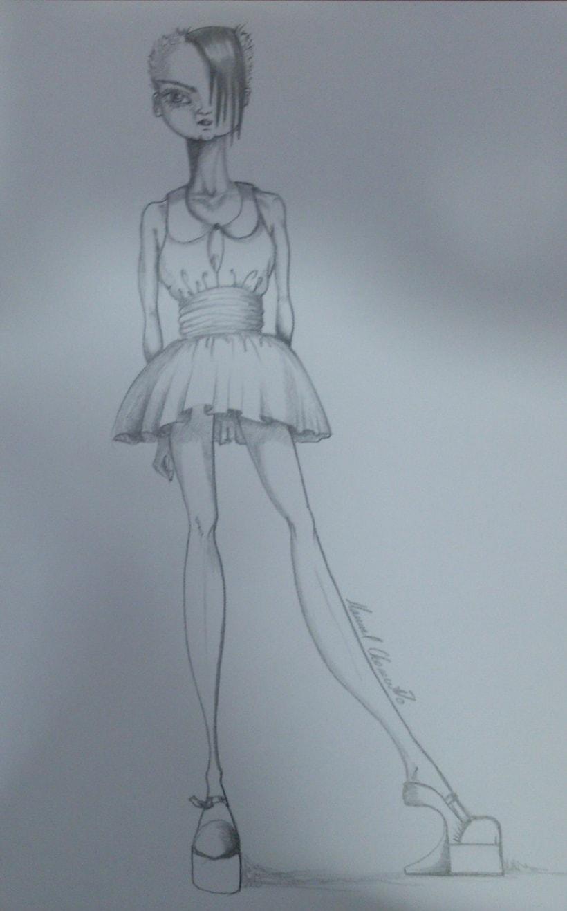 Diseños de moda a lápiz 8