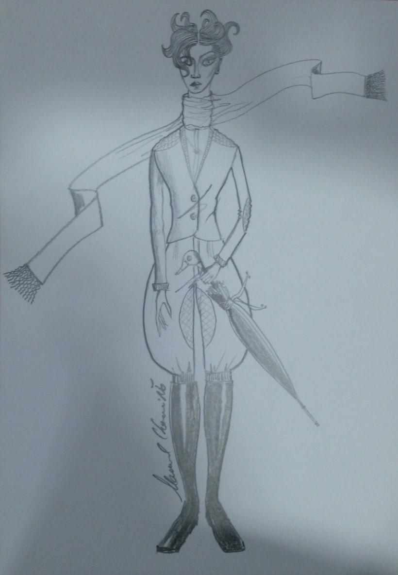 Diseños de moda a lápiz 9