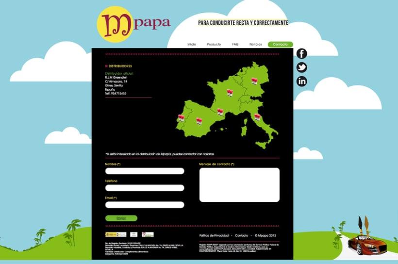 Proyecto web Mpapa: diseño y maquetación web 4