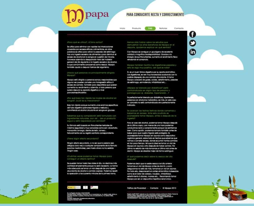 Proyecto web Mpapa: diseño y maquetación web 2