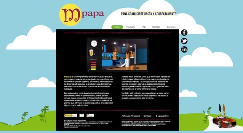Proyecto web Mpapa: diseño y maquetación web 0