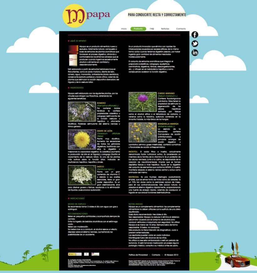 Proyecto web Mpapa: diseño y maquetación web 1
