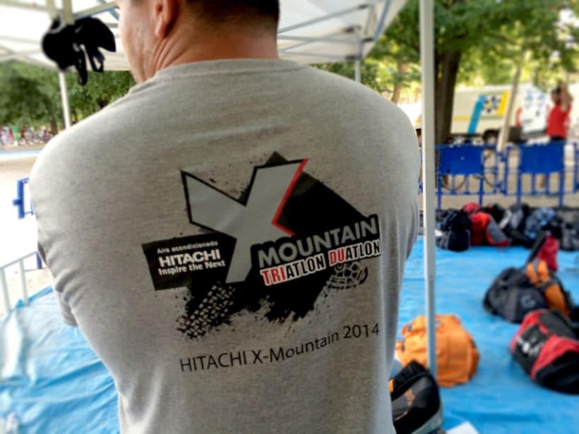 Logo Hitachi X-MOUNTAIN DUATLON-TRIATLON 5
