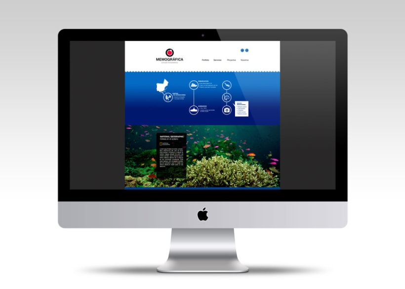 Diseño Web: Memográfica Estudio de fotografía submarina 0