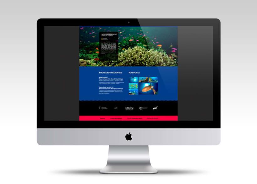 Diseño Web: Memográfica Estudio de fotografía submarina 1