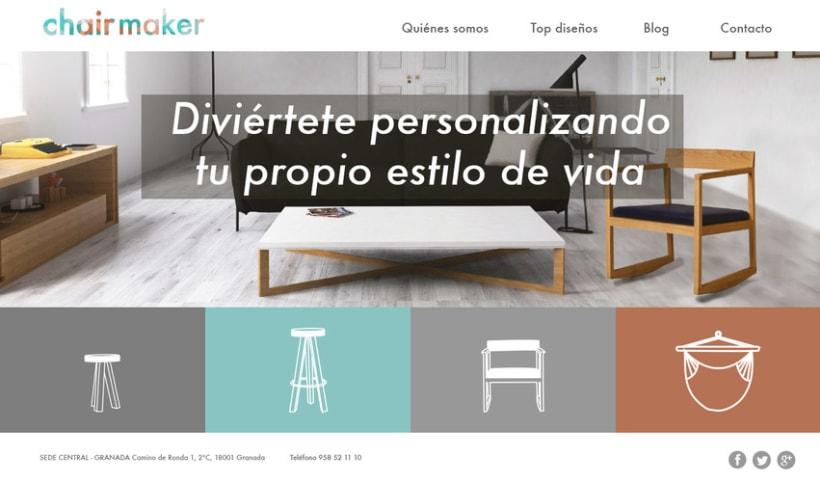 Chairmaker - Personaliza tu asiento: colaboración en el diseño web y la propuesta del modelo de negocio 0