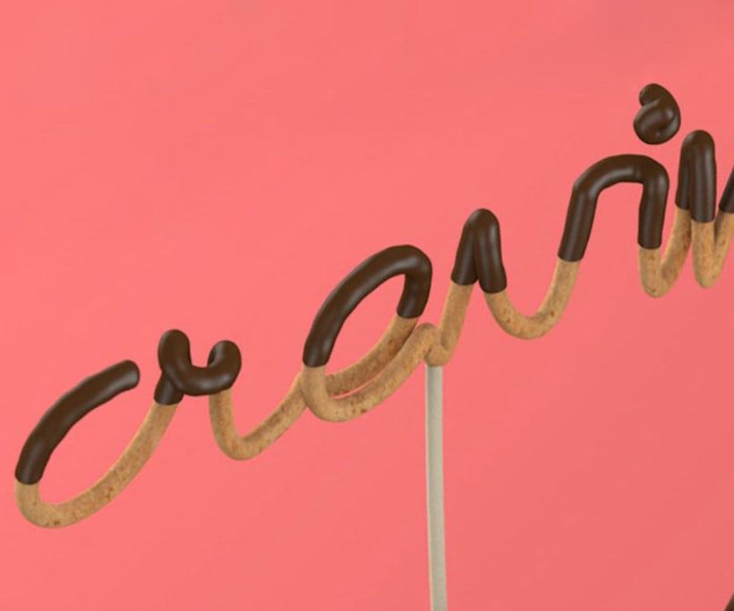 Tipografía bañada en chocolate 9