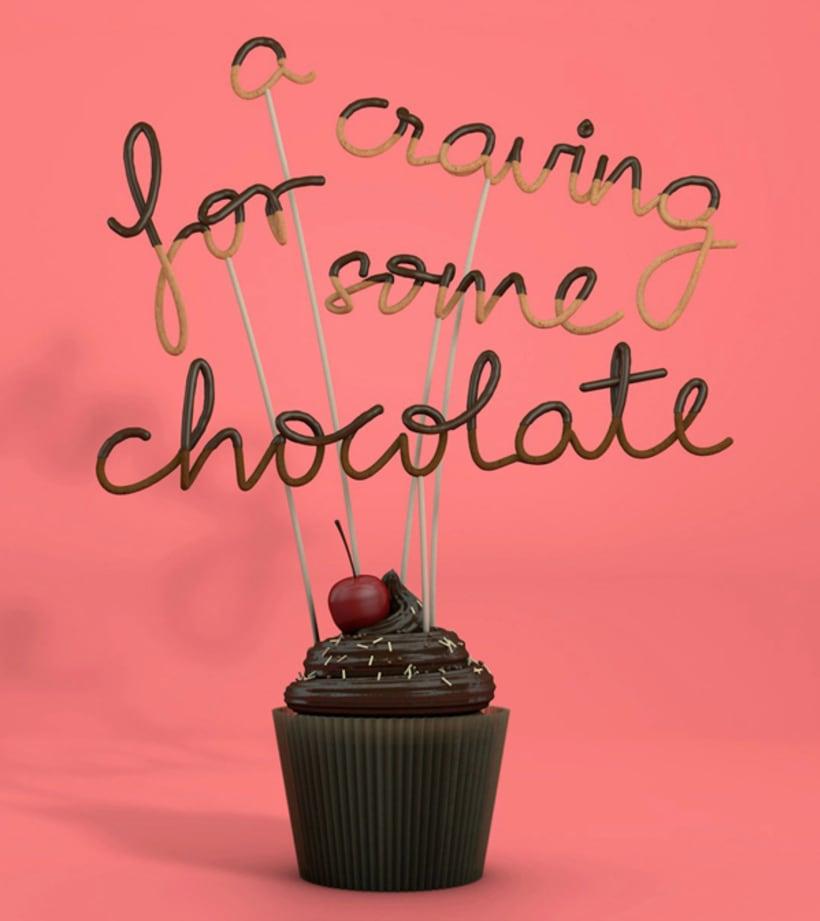 Tipografía bañada en chocolate 12