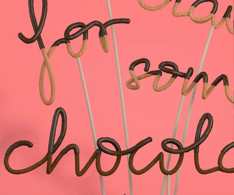 Tipografía bañada en chocolate 11