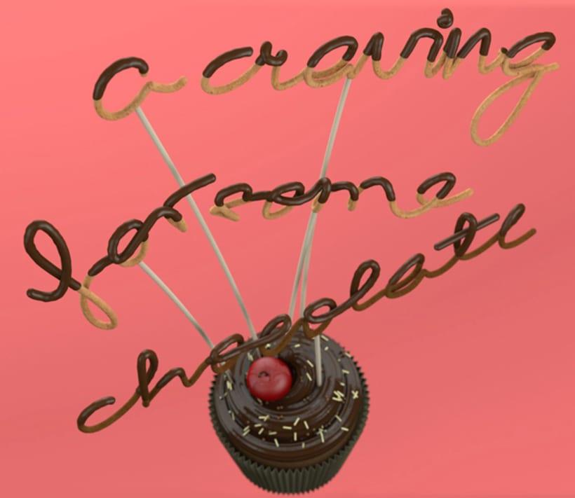 Tipografía bañada en chocolate 13