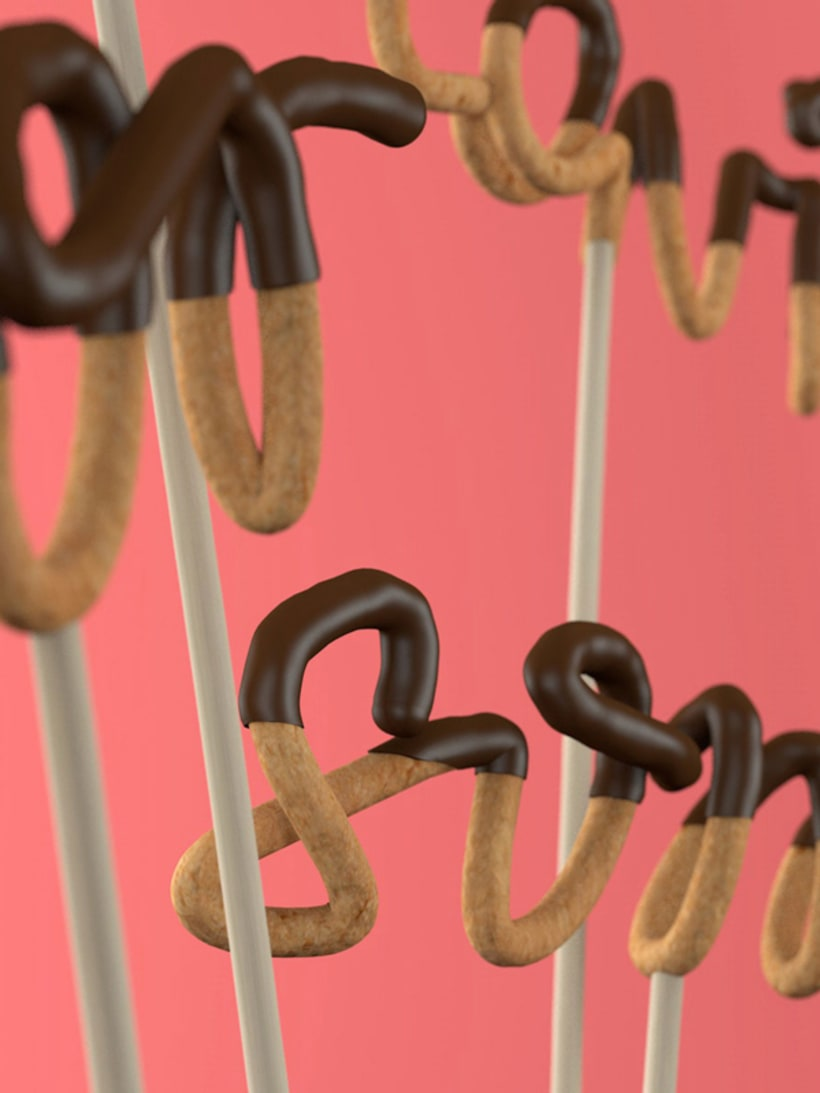 Tipografía bañada en chocolate 1