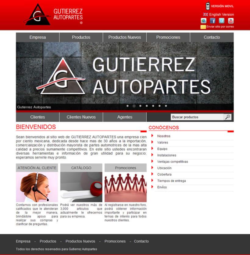 Gutierrez Autopartes - Sistema administrativo 0