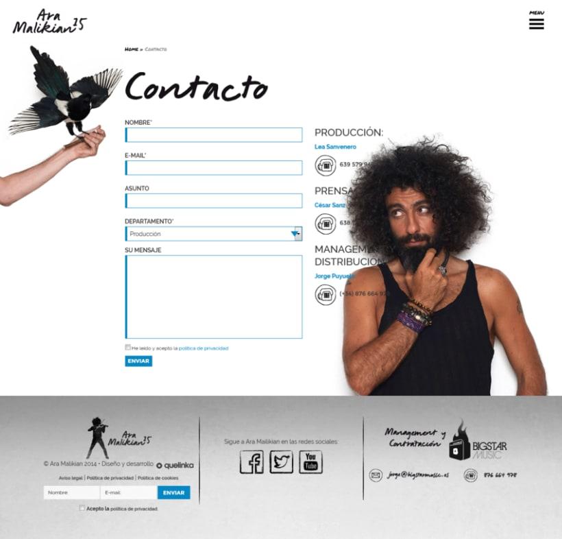 La nueva web de Ara Malikian. Un diseño afinado 4