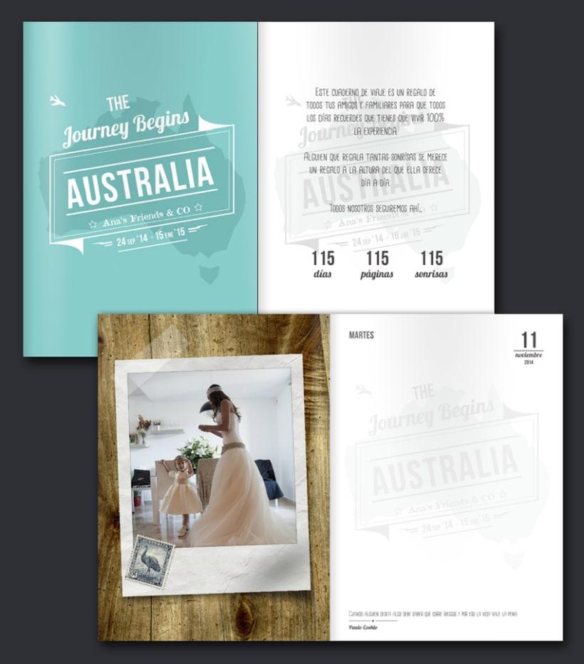"""Cuaderno de Viaje """"115 días en Australia"""" 1"""