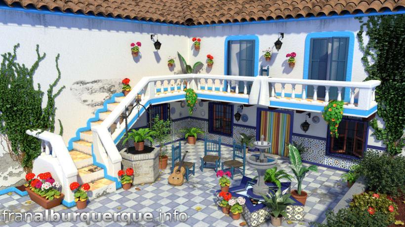 Andalusian-mediterranean courtyard // Patio andaluz-mediterráneo -1