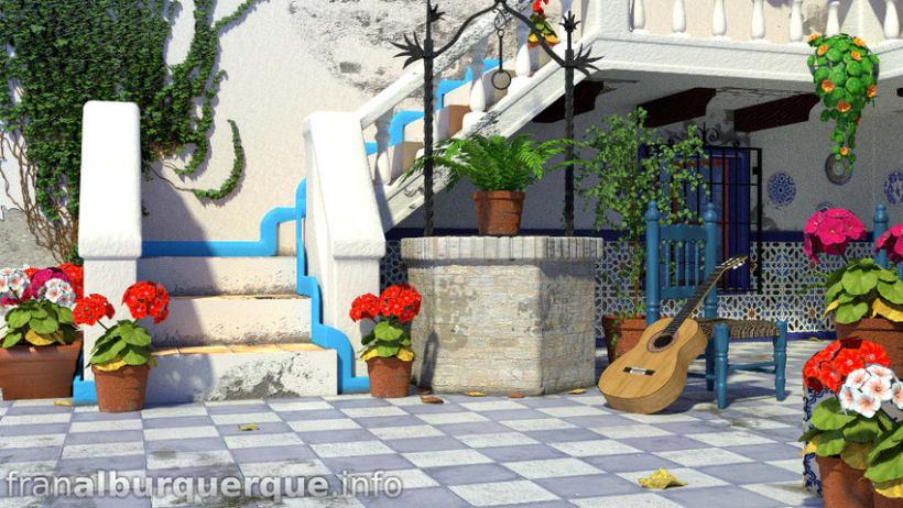 Andalusian-mediterranean courtyard // Patio andaluz-mediterráneo 3