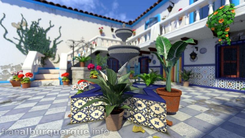 Andalusian-mediterranean courtyard // Patio andaluz-mediterráneo 4