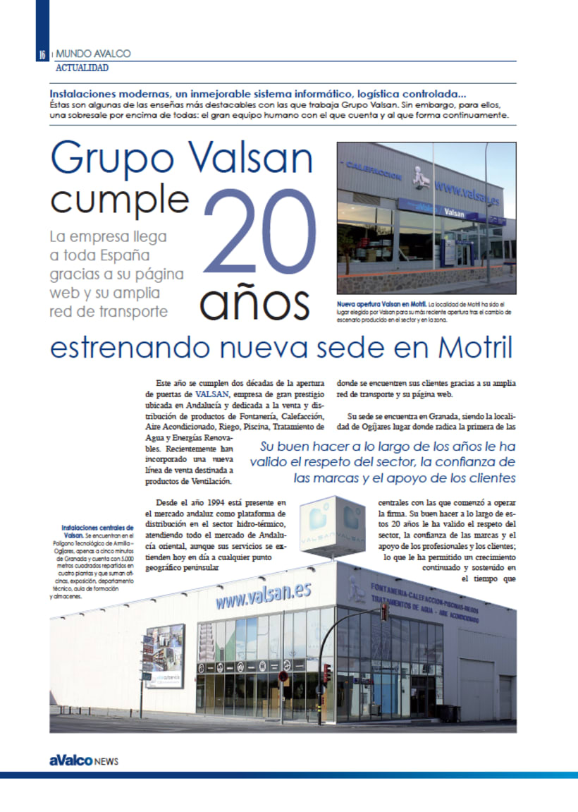 REVISTA ANUAL AVALCO NEWS 4