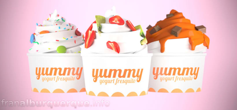Yummy - frozen yogurt (fake brand commercial) // Yummy, anuncio de una falsa marca de yogurt helado -1