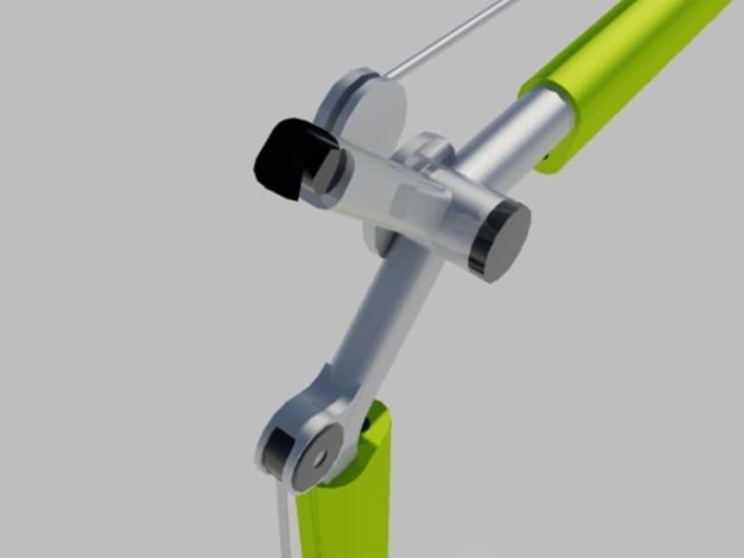 Modelado y rederizado Lampara Tolomeo (Autocad) 1