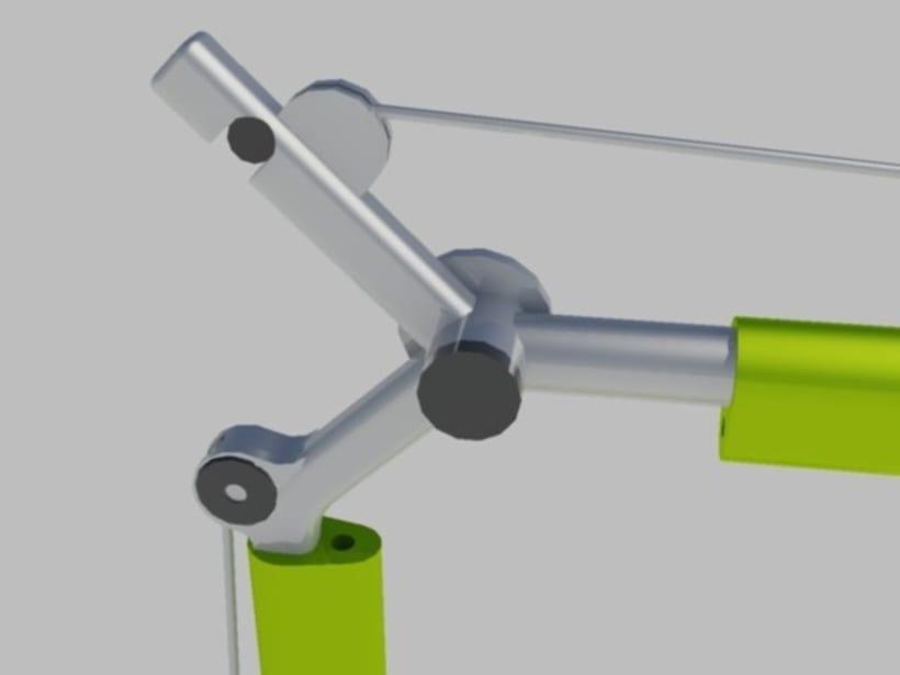 Modelado y rederizado Lampara Tolomeo (Autocad) 2