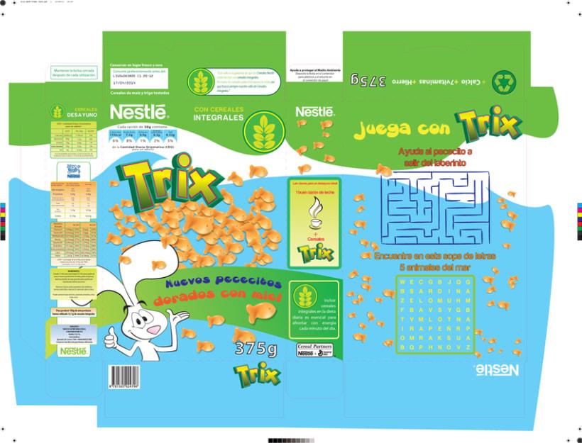 Diseño Packaging, Cereales TRIX -1