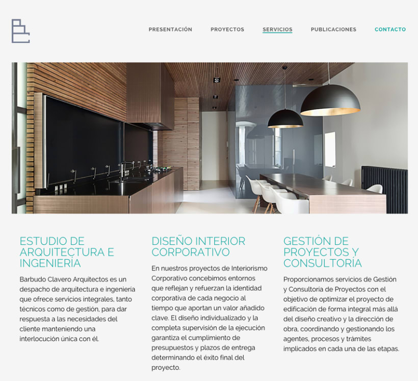 Diseño web BC arquitectos 1