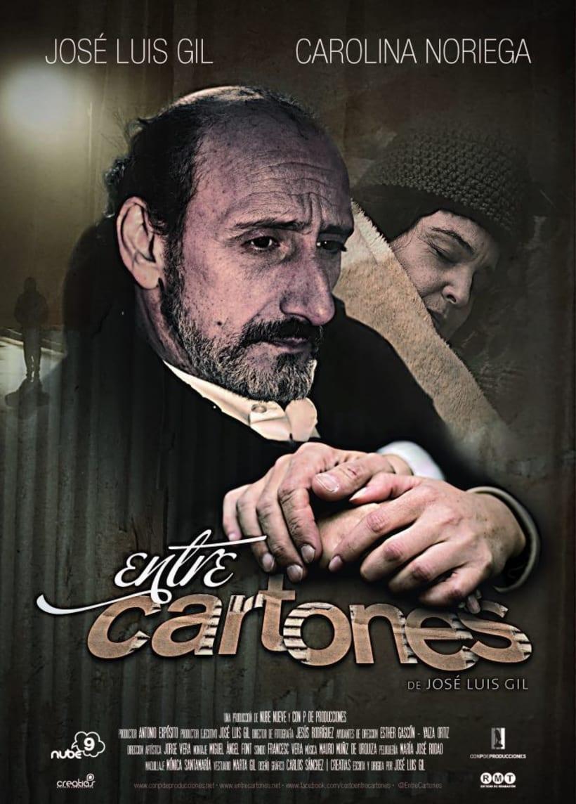 Cartel y logotipo para Entre Cartones de Jose Luis Gil 0