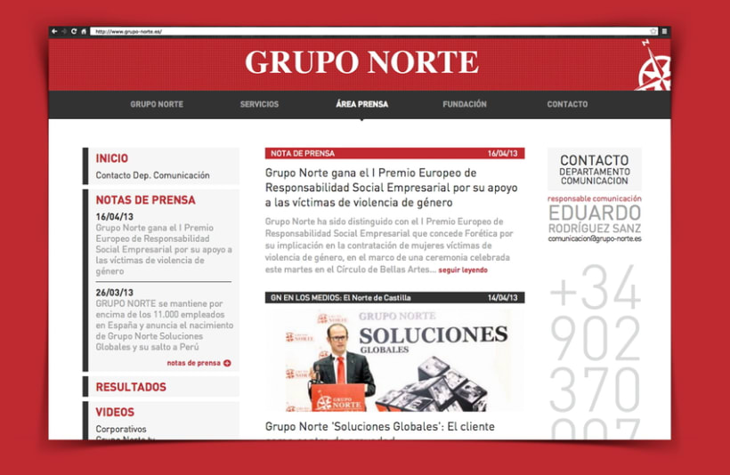 web Grupo Norte 2