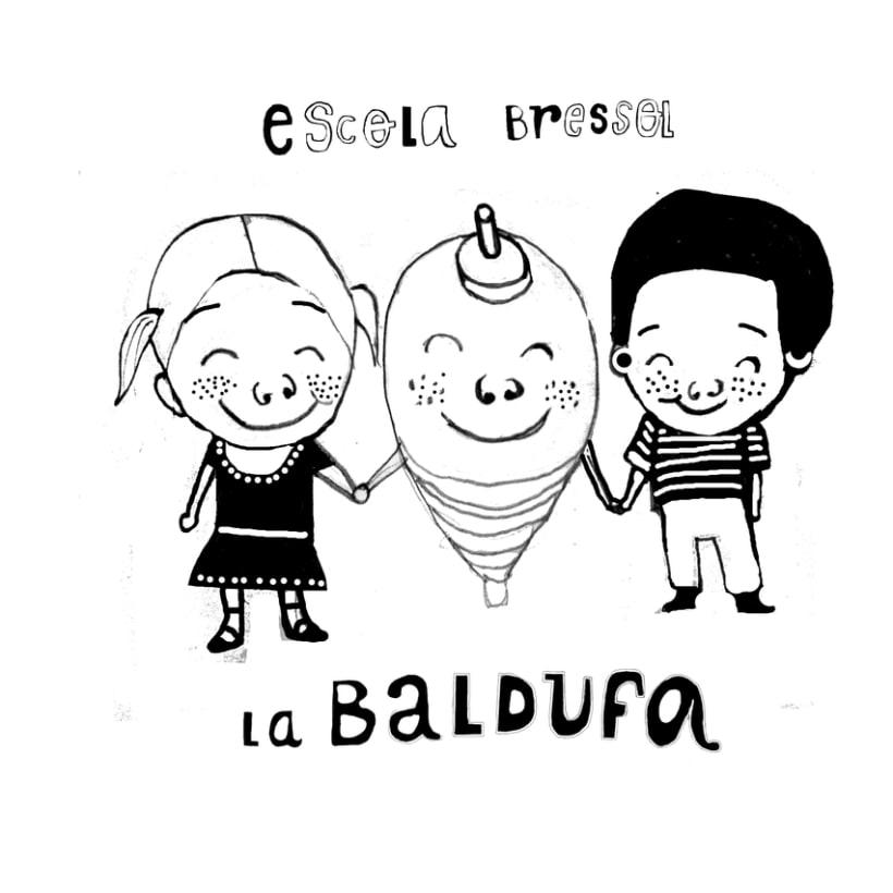 posicionado para camiseta de la llar d'infants La Baldufa, Girona 4