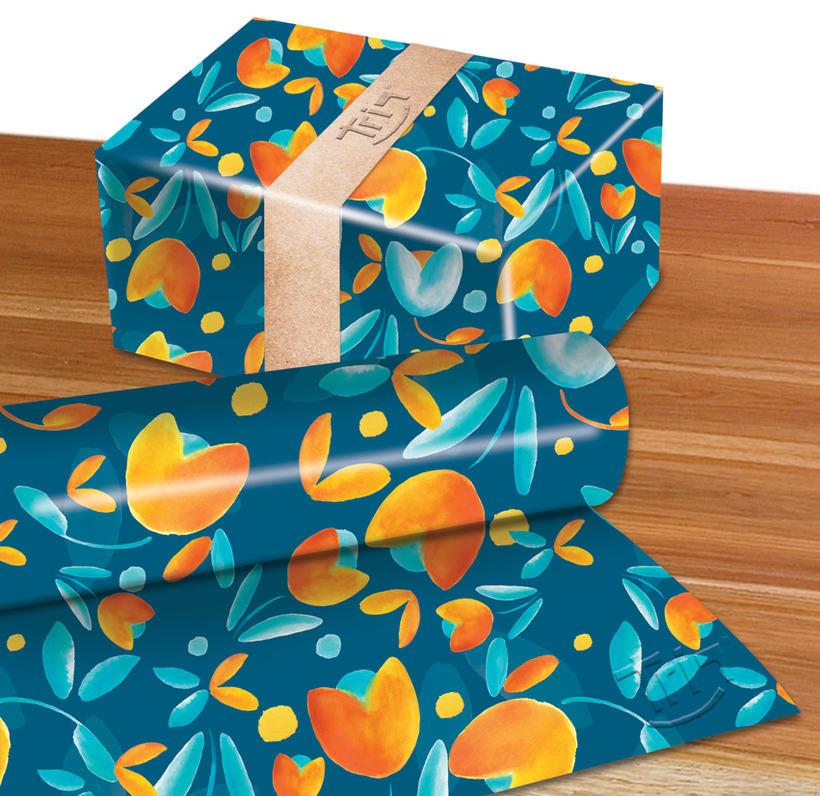 Estampado para una marca llamada Triq de accesorios en papel y tela  6