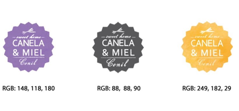 """IDENTIDAD CORPORATIVA """"CANELA & MIEL"""" 6"""