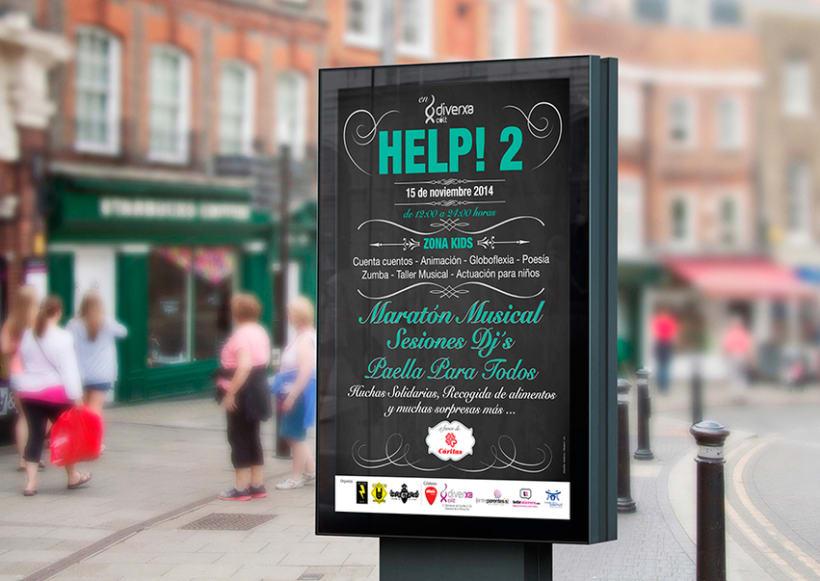 Diseño cartel festival HELP! 2 0