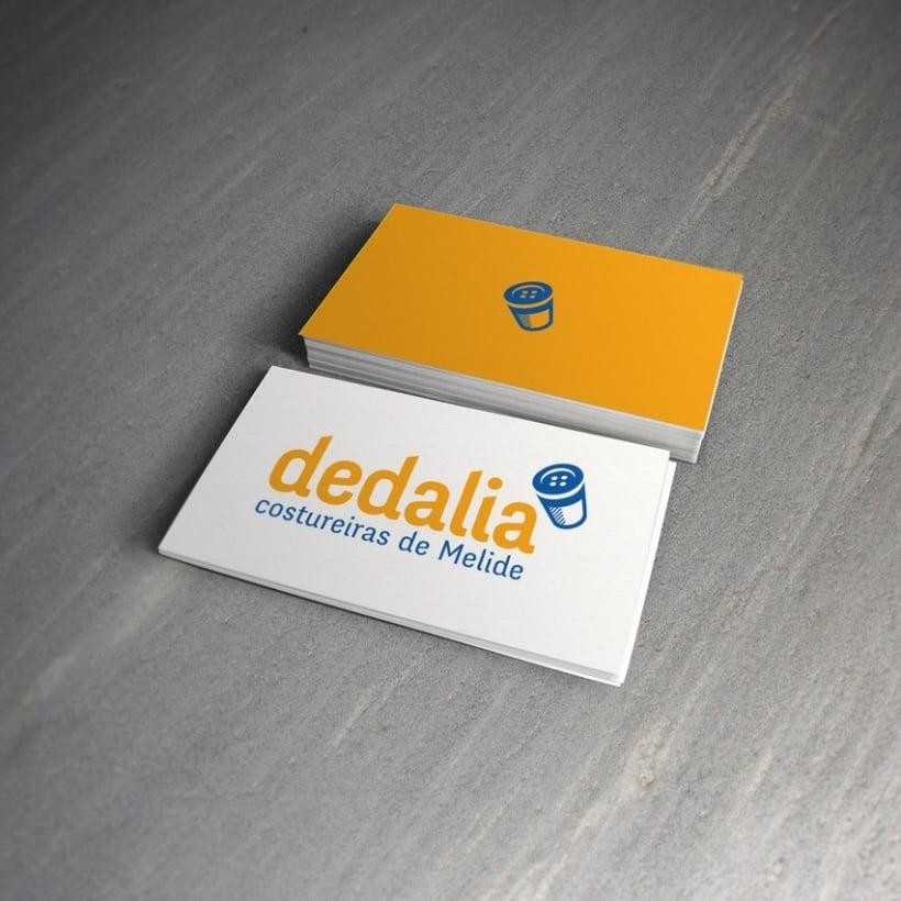 Identidad corporativa para Dedalia, costureiras de Melide 2