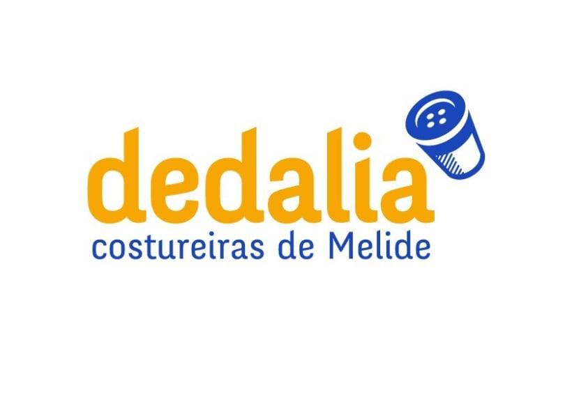 Identidad corporativa para Dedalia, costureiras de Melide 0