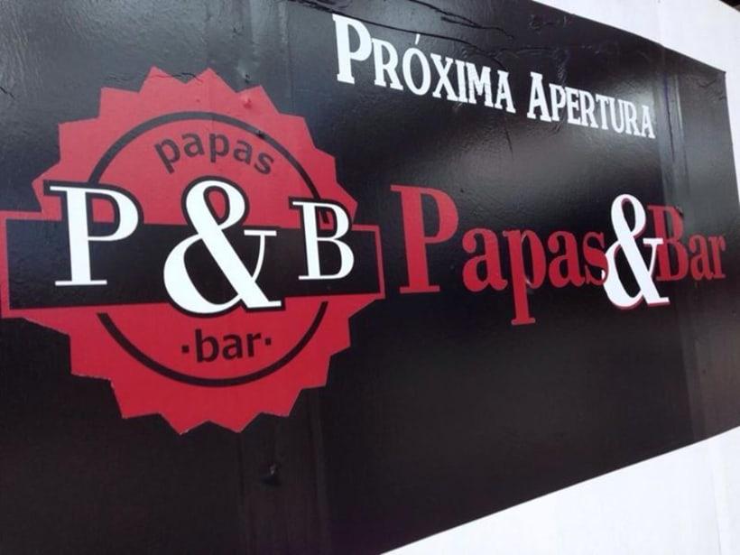 Branding: Papas&Bar Restaurant 2