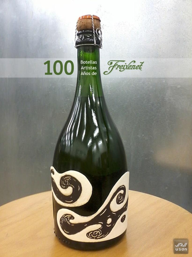 Exposición 100 Botellas, 100 Artistas, 100 Años de Freixenet. 1